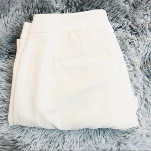 Tahari Straight Leg Trousers Dress Pants White